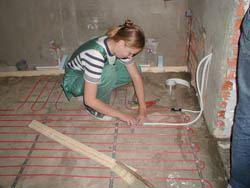 Монтаж электрического теплого пола в Коврове. электрический теплый пол